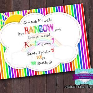 Rainbow Invitation & Party Package